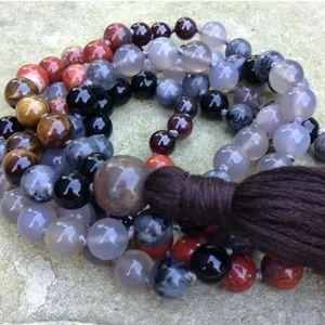 NEW MOON Meditation Gemstone Mala necklace